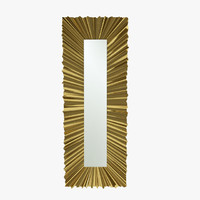 christopher ruffle rectangle mirror 3d model