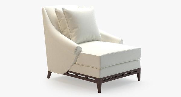 3d natalie lounge chair 60-0078 model