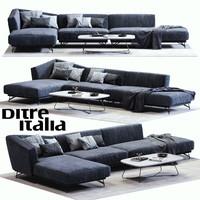 ditre italia lennox sofa 3d obj