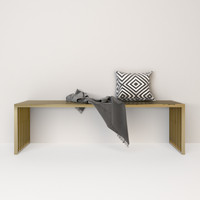 interlude willis brass bench 3d max