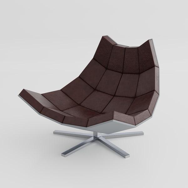 vintage futuristic chair 3d 3ds
