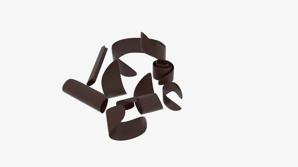 3d model chocolate shave