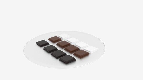 3ds chocolate block platter