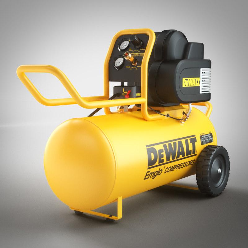 3d model air compressor dewalt