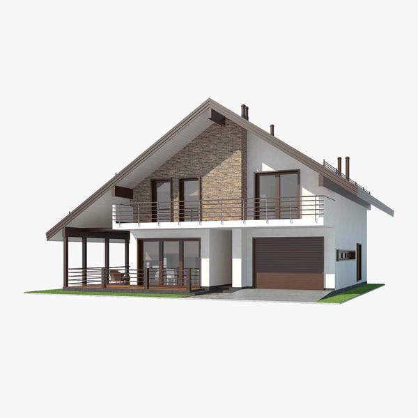 3d shale contemporary house interior