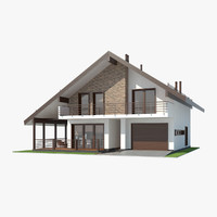 3d shale contemporary house interior