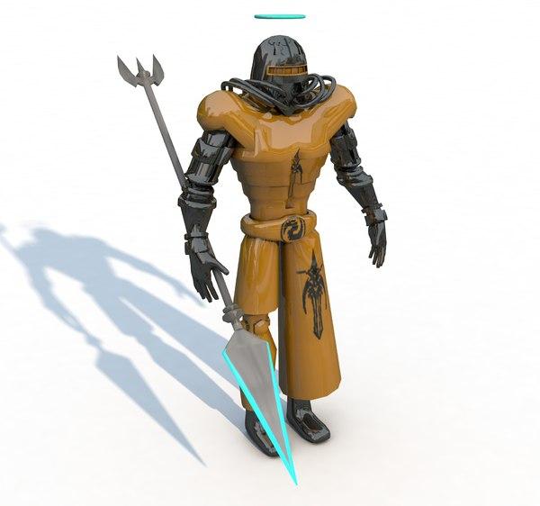 3d robotic character