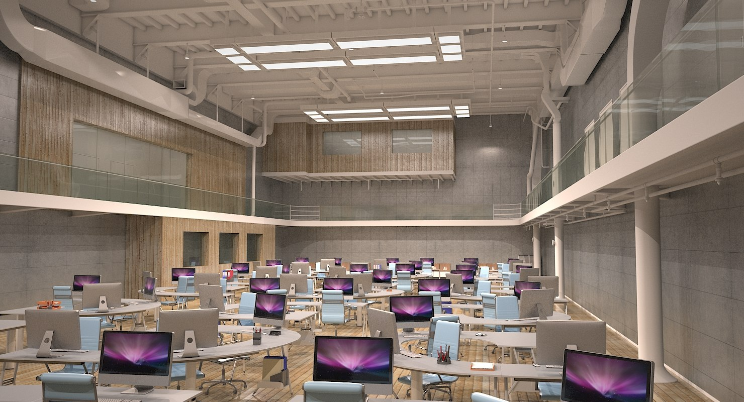 industrial office 3d max