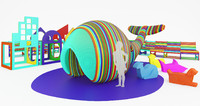 wally whale kids playground 3d max
