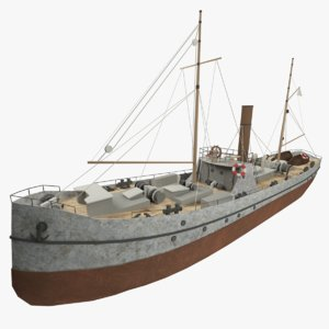 3d background steamship ship