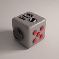 3d model fidget cube