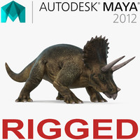 Triceratops Rigged for Maya