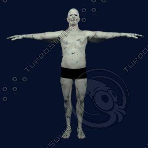 oldman zombie 3d model
