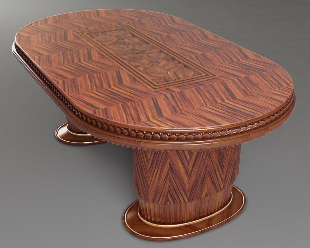 3d model art deco table