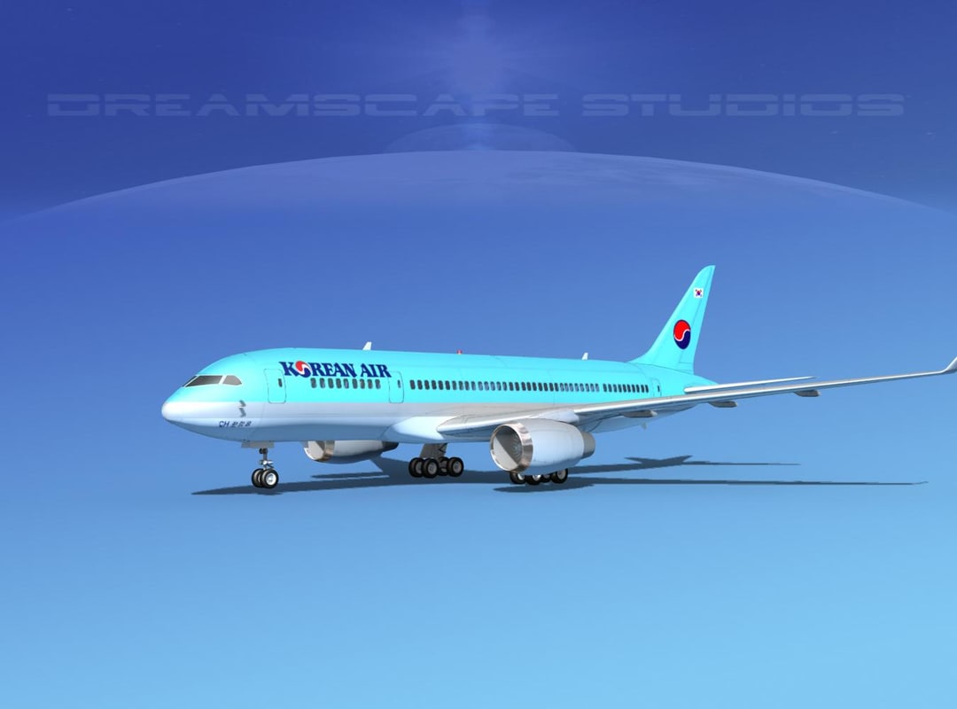 3d airline boeing 787-8 787