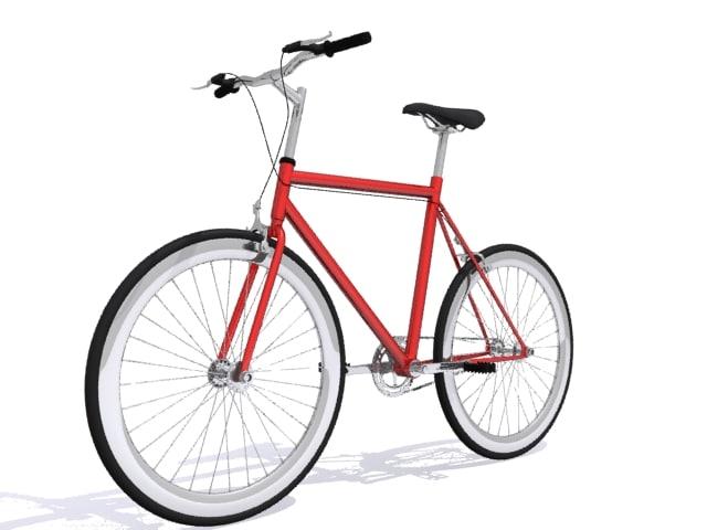 3d model bicycle mountain bike
