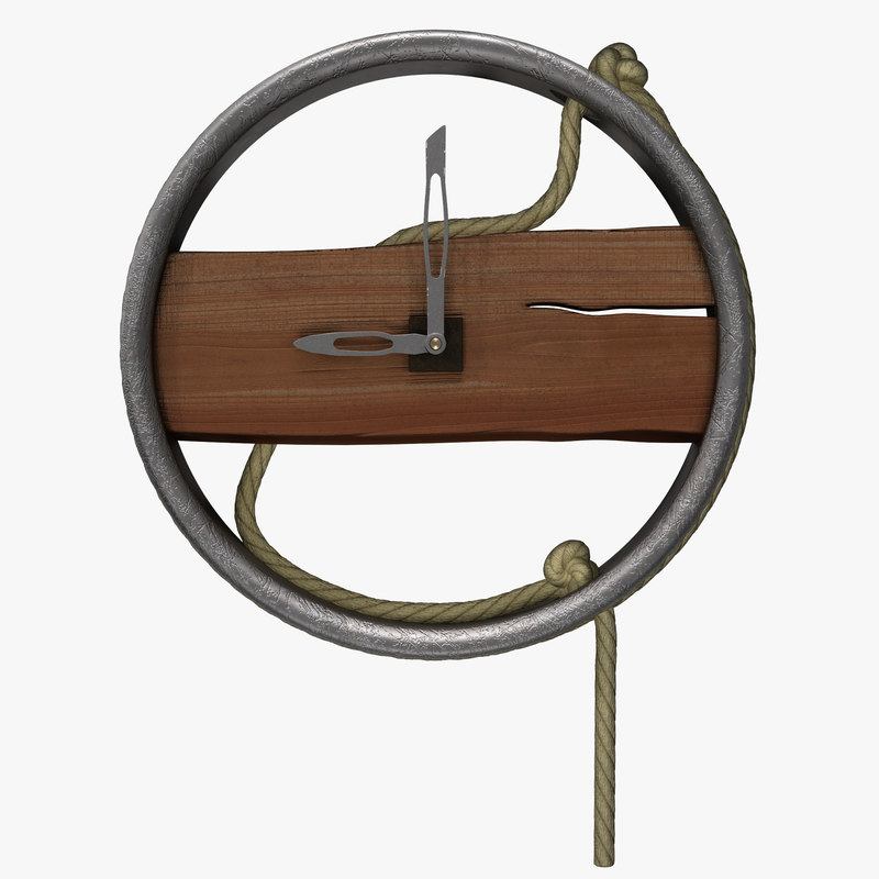 3d model clock rope