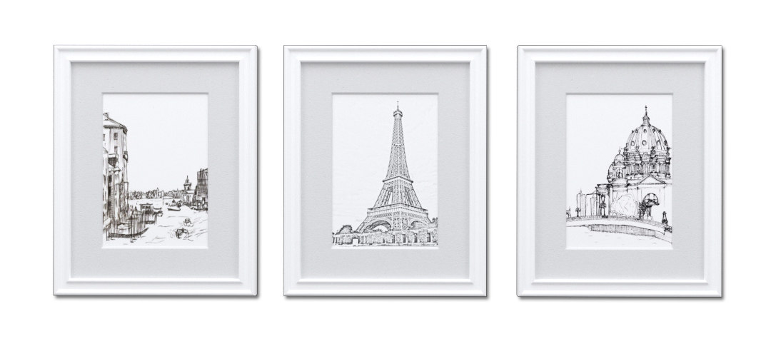 white picture frames - 3d 3ds