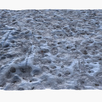 3d model frozen winter ground surface