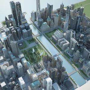 city g - 3d model