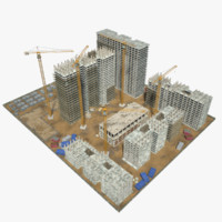 construction site 3d max