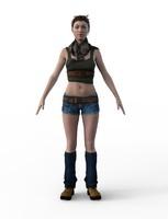 3d female quinn outfit