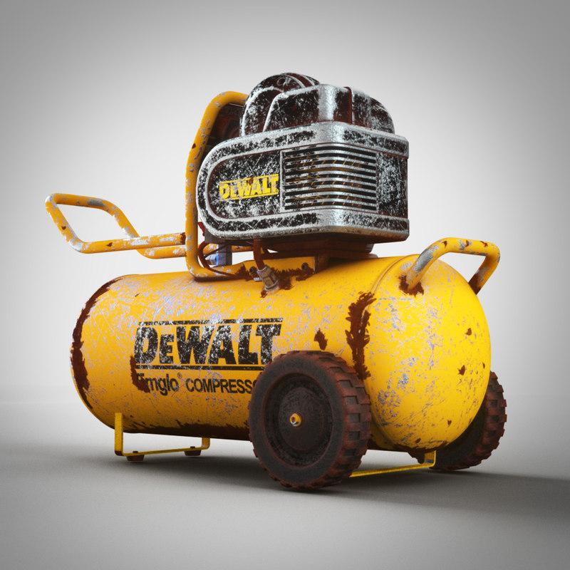 old air compressor 3d max