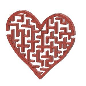 3d model heart maze