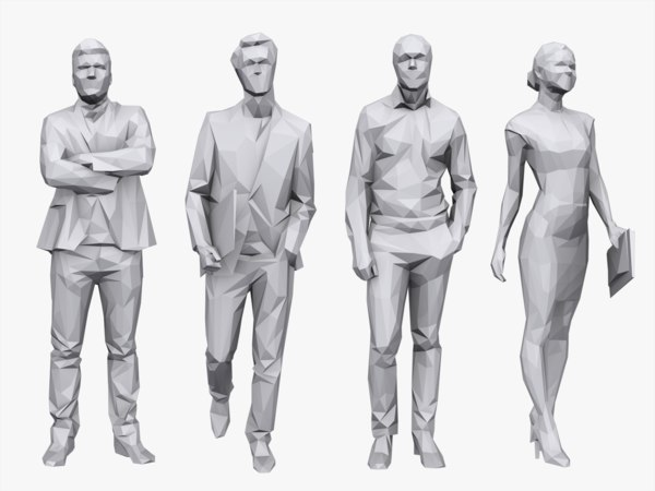 people pack business 3d model