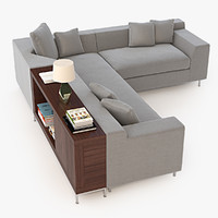 Photorealistic Vioski Shea Sectional Sofa
