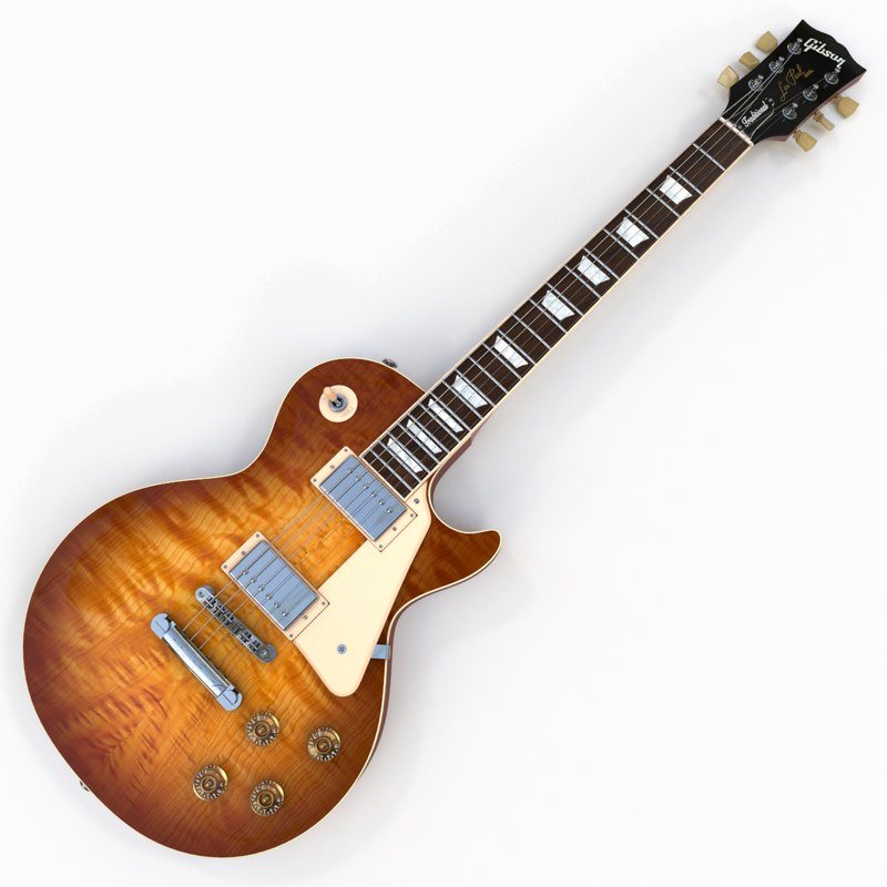 gibson les paul traditional 3d max