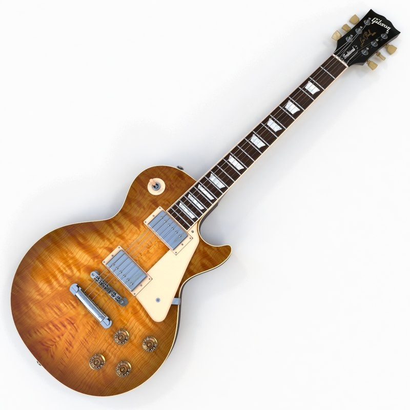 gibson les paul traditional 3d model