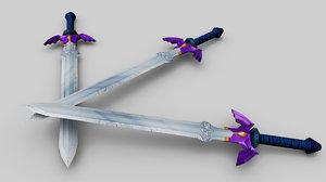 legend master sword 3d model