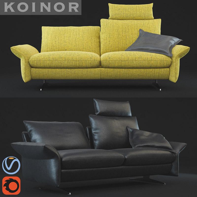 sofa lungo koinor 3d model