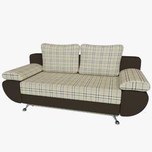 sofa bed riviera gobelin 3d obj