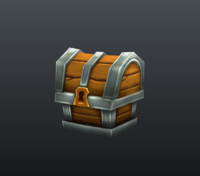 treasure box 3d obj