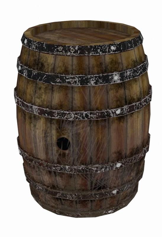wooden keg fbx