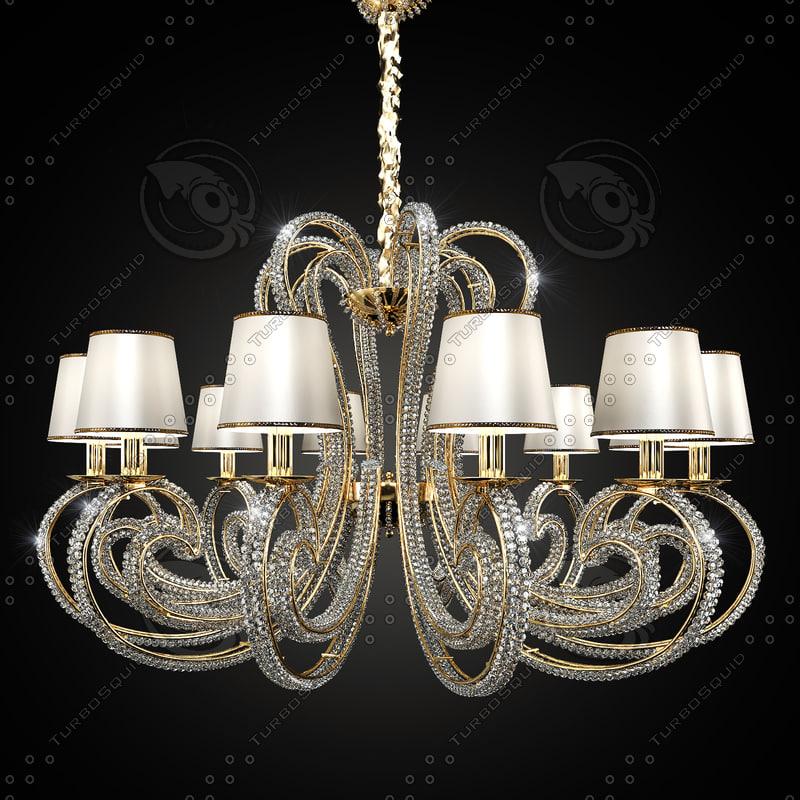 3d model chandelier masiero