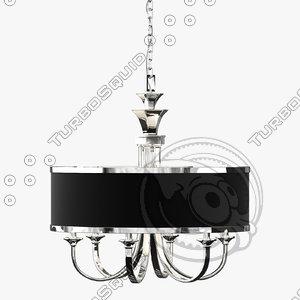 uttermost tuxedo chandelier lamp 3d max