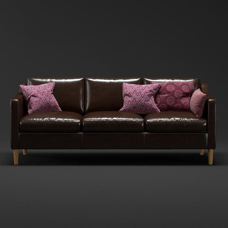 3d model modern sofa west elm