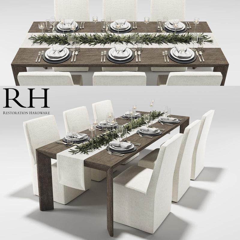 3d model arles dining table