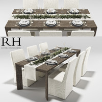3d model arles dining table