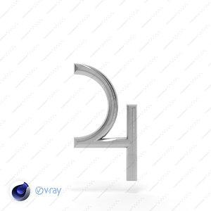 3d symbol jupiter model