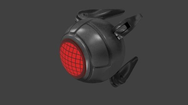 eye terminator t-800 3d model