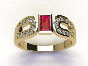 gold ring 3d 3dm