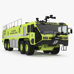 oshkosh striker 4500 aircraft 3d 3ds