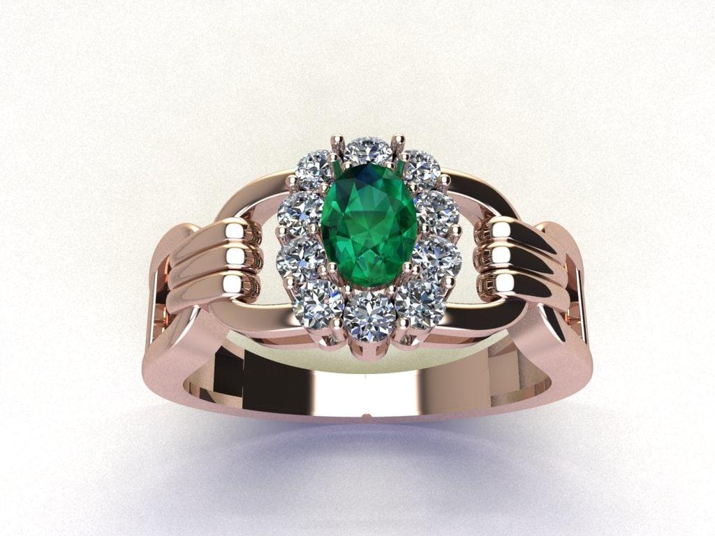 3dm rose ring diamond