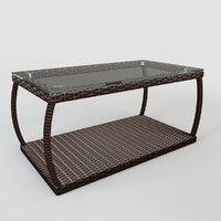 3d table rattan model