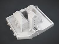 medieval castle trakai 3d model