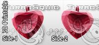 3d-printable valentine crystal-heart-twoletters pendant 3d obj